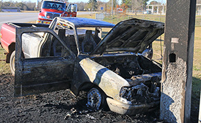 Man Airlifted After Being Burned In Pickup Truck Fire
