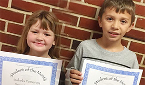 Jim Allen Elementary School Names Students Of The Month