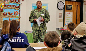 Elementary Kids Write Letters To Sailors In At Boot Camp