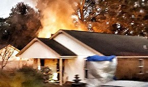 Firefighters Battle House Fire Off East 10 Mile Road