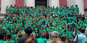 Escambia 4-H Members Join 750 More In Green For 4-H Day In Tallahassee