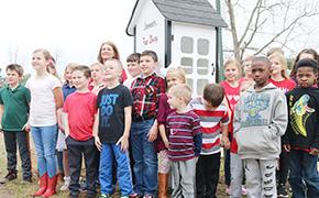 Bratt Elementary Students Open Little Free Library In Travis Nelson Park