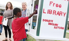 Bratt Elementary Dedicates Little Free Library In Century