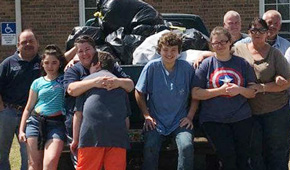 Enon Community Cleans Up