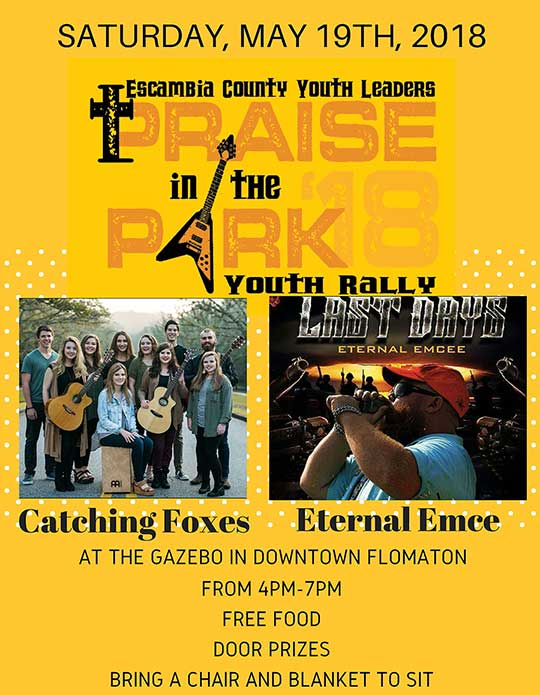 Free Youth Concert 'Praise In The Park' Today In Flomaton