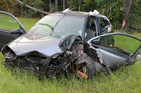 Woman Airlifted After Highway 4 Crash