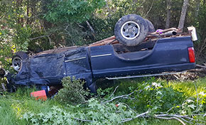 Driver Injured In Highway 29 Rollover