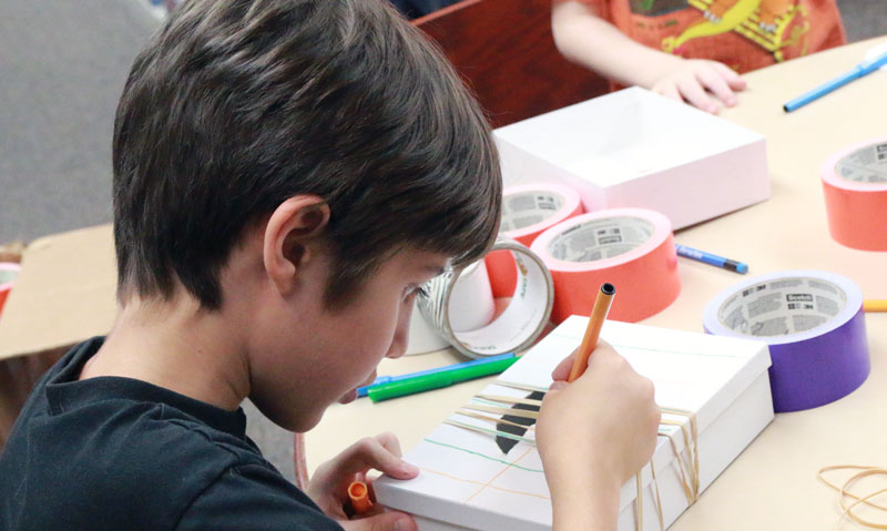 Kids Create Music During Summer STEAM Program At Century