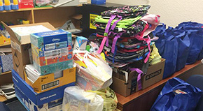Church, High School Student Donate Supplies To Beulah Elementary School