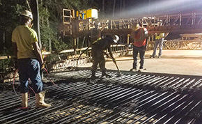 Concrete Deck Poured Again On Molino Bridge That Collapsed In June