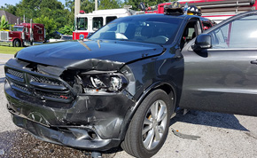One Injured In Cantonment Crash