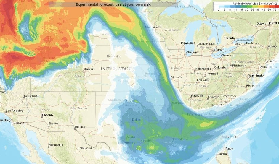 That Haze Outside It S Western Wildfire Smoke Forecast Includes A