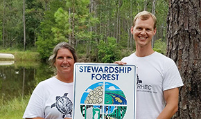 Roy Hyatt Center Recognized As Stewardship Forest