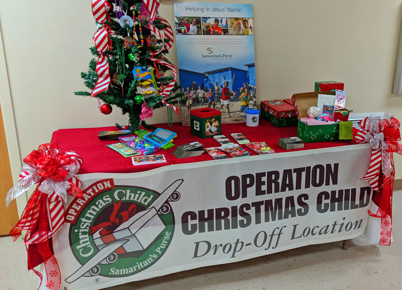 Operation Christmas Child Drop Off.It S Operation Christmas Child Collection Week At First