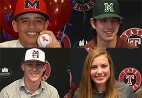 Four Tate Aggies Sign To Play College Ball