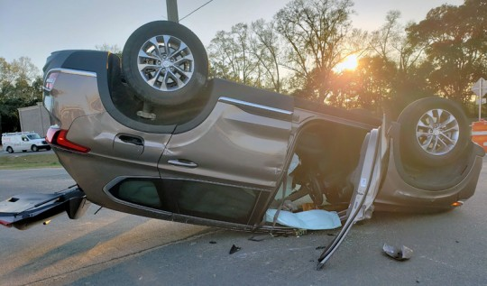 No Injuries In Nine Mile At Highway 29 Rollover Crash