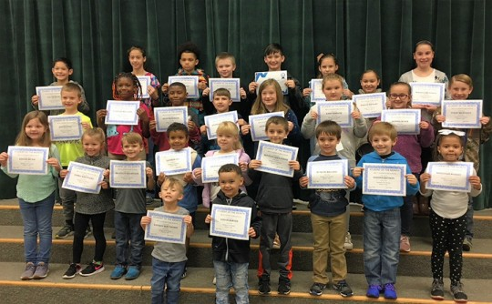 Bratt Elementary Names January Students Of The Month