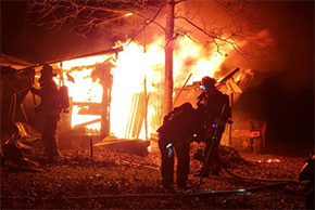 Fire Destroys Garage And Storage Shed In Cottage Hill