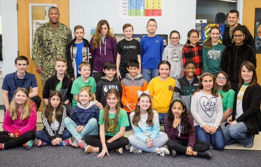 Beulah Elementary School Students Write Letters Of Support To Navy