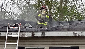 Fire Heavily Damages Cantonment Mobile Home