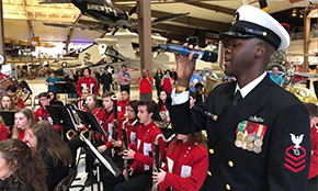 Tate High Wind Ensemble Performs During NAS Pensacola Change Of Command