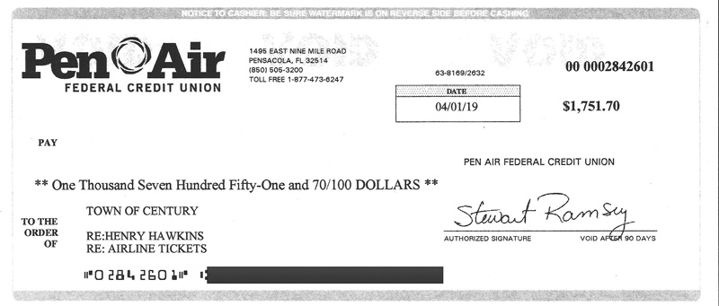 Hawkins Reimburses Century For Airline Tickets, But Still