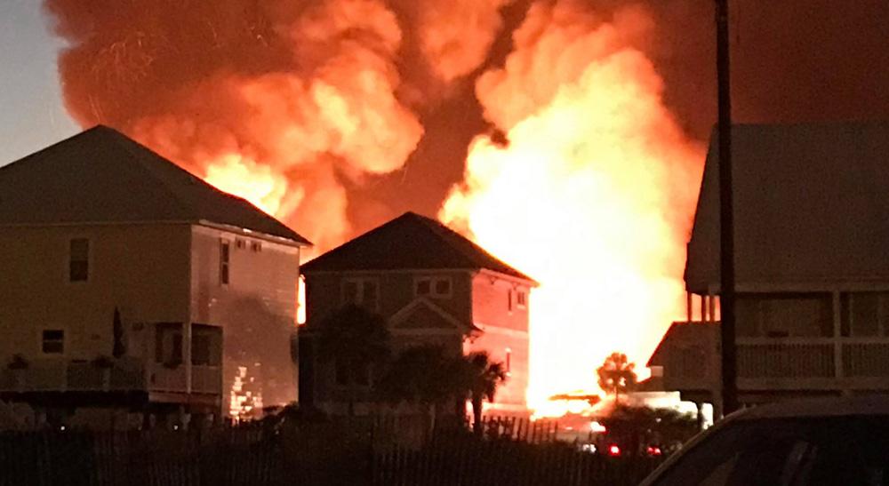 massive fire destroys over two dozen perdido key condos