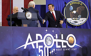 DeSantis, Pence Mark 50th Anniversary Of Apollo 11 Mission