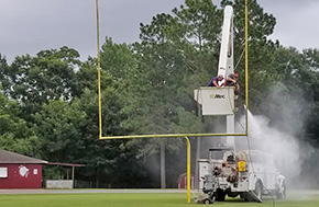 Northview's Stadium Prepped For Football Season With Help From EREC, Century Correctional