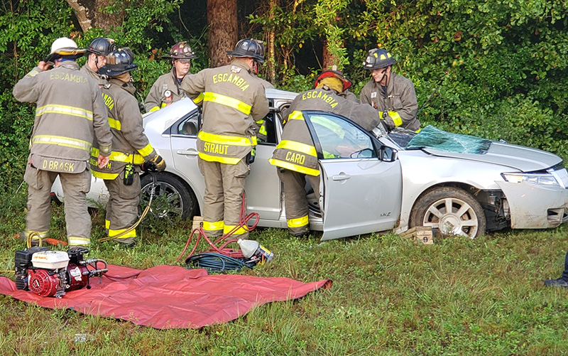 One Injured In Highway 29 Rollover Wreck In Cantonment