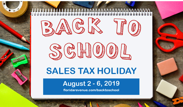 Back To School And Disaster Sales Tax Holidays To Return In 2020 Northescambia Com
