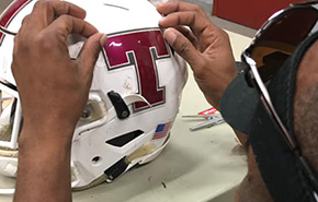 Tate Helmets Sporting New Logo Decals For Friday Night's Kickoff Classic