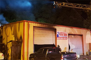 Fire Damages Nine Mile Road Paint And Body Shop; Dog Rescued From 'Allie Kats'