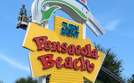 Win The Chance To Be The First To Flip The Lights On The New Pensacola Beach Sign