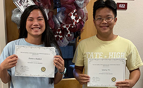 Tate High Names September Students Of The Month