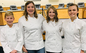 A Sweet Treat: Ernest Ward Culinary Students Share Program With School Board
