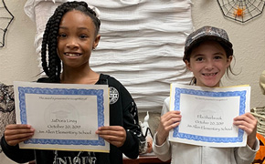 Jim Allen Elementary Names October Students Of The Month