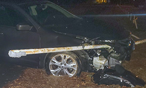 Driver Reportedly Flees After Cantonment Crash