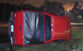 Multiple Wrecks Across North Escambia Early Sunday Evening