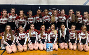Tate Cheerleaders Earn First Place In Red Nosed Reindeer Cheer Competition