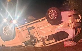 Five Injured When Driver Flees Traffic Stop, Crashes Into SUV In Cantonment