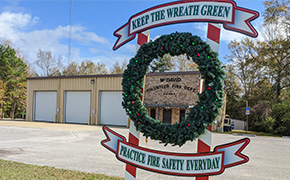 Escambia County Kicks Off The 'Keep The Wreath Green' Fire Safety Campaign