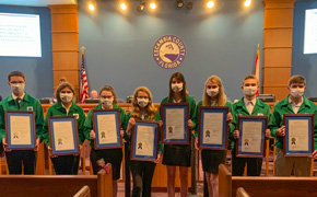 Escambia County Commision Honors State Champion 4-H Meat Judging Teams