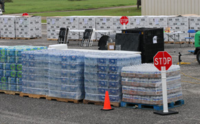 Food And Water Will Be Distributed At Seven Locations In Escambia County Beginning Saturday