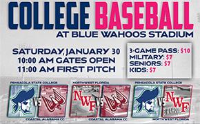 College Baseball Returns To Blue Wahoos Stadium On January 30