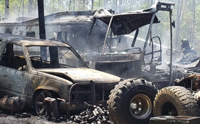 Fire Destroys Two RVs And A Vehicle, Damages Shed