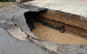 Rigby Road Bridge In Bratt Closed After Roadway Collapses