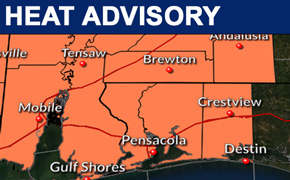 Heat Advisory: High About 95, Heat Index 110 Degrees