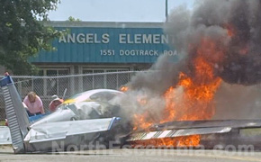 Small Plane Crashes In Front Of Blue Angels Elementary School