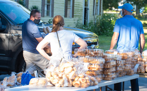 Giving Back: 30,000 Pounds Of Food Distributed In Cantonment